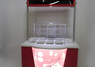 Metal Fabricated Ice Cream POS with LED Light Boxes